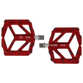KCNC Pedia 2 Pedales Plataforma Delgados para MTB/BMX, red